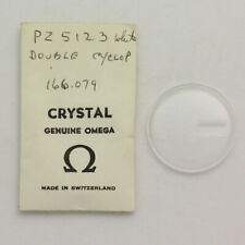 NOS Omega Double Cyclop Acrylic Crystal PZ5123 166.079 - Missing Ring