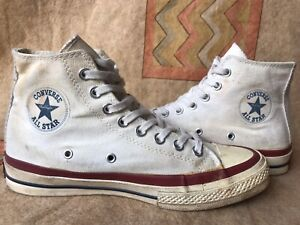 Vintage Men's Converse Red Label Tag White Sneakers Size 7 Made in Japan