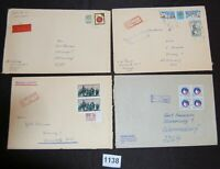 Germany DDR cover collection lot of 15 larger mostly registered [FD1138]