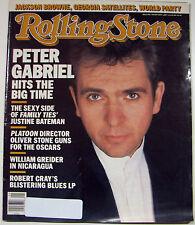 Rolling Stone Magazine 01/29/1987 Peter Gabriel Jackson Browne World Party