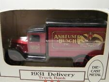 Ertl 1:34 Anheuser-Busch 1931 Delivery Truck Die Cast Metal Coin Bank Made in US