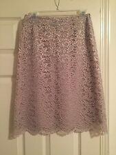 Beige Lace Knee Length Skirt 8
