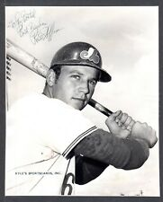 1969 Ross Hoffman  EXPOS  SIGNED  7-3/4 x 9-5/8  AUTOGRAPH SNAPSHOT PHOTO COA #1