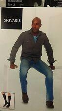 Sigvaris 362CLSM00Cushioned Cotton Men's Knee High Socks - 20-30 mmHg Short Whit