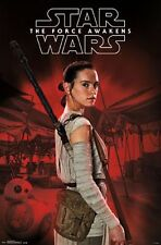 STAR WARS - FORCE AWAKENS - REY STAFF POSTER - 22x34 - 14669