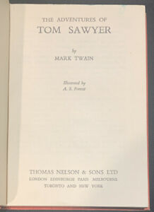 Vintage: The Adventures of Tom Sawyer :M Twain , illustrated A S Forrest (007)