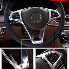 Steering Wheel Decor Trim For Mercedes-Benz C-Class W205 2014-2017 B-Class 15-16