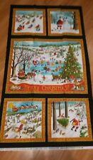 "Winter Wonderland Christmas Panel by Ingrid for Moda Fabrics Fabric 23"" X 44"""