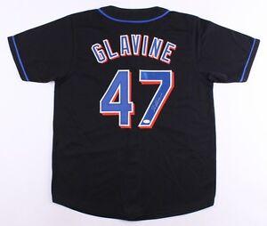 Tom Glavine Signed Mets Black Jersey (JSA COA) Won his 300th Game as a Met !