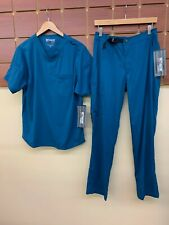 NEW Men's Grey's Anatomy Caribbean Blue Scrubs Set With Small Top & Small Pants