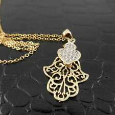 Gold Cut-Out Hamsa Pendant Stainless Steel 18″-22″ Necklace