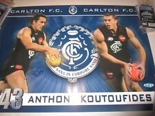 "Anthony Koutoufides (Carlton FC) signed ""Kouta"" Poster (473)  Official AFL"