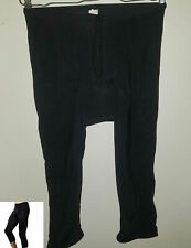 Nashbar Size XL Padded Cyling Tights Black 3/4 Length Nylon / Lycra Made USA EUC