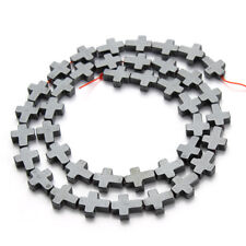 1 Strand Natural Hematite Loose Spacer Beads Cross Bead Bracelet Jewelry Finding