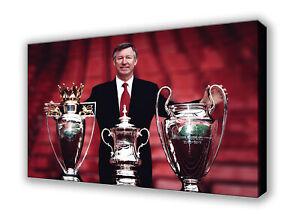 Sir Alex Ferguson Manchester United Wall Canvas Picture Print Art