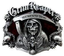 Skull Belt Buckle Grim Reaper Memento Mori Dark Gothic Authentic Dragon Designs
