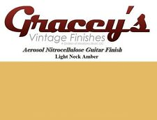 -Light Neck Amber- Gracey's Vintage Finishes Nitrocellulose Guitar Lacquer .
