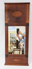 Antique Inlaid Mahogany Mirror with Seashell & Column Decorations