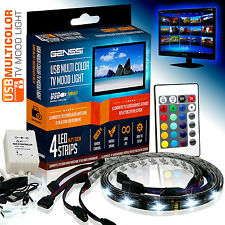 AMBIENT MOOD LIGHTING RGB COLOR CHANGING BACKLIGHTS LED TV LIGHT WIRELESS USB