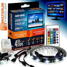 AMBIENT MOOD LIGHTING RGB COLOR CHANGING BACKLIGHTS LED TV LIGHT WIRELESS USB