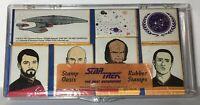 Vintage 90's Star Trek Oasis Rubber Stamps Starfleet Next Gen Bridge Cast Set