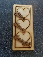 Wooden MDF Love & Hearts Decorative Indoor Signs/Plaques