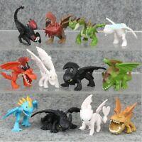 How To Train Your Dragon 12pcs Light Night Fureur Édenté Figurine Modèle Jouet