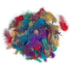 UFS Craft: paquete De Plumas Exóticas 8g Colores Mezclados (Manualidades, Tarjeta Hacer Etc)