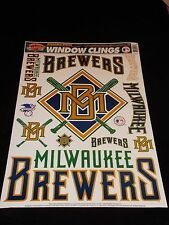 Milwaukee Brewers 11 X 17 sheet of 12 COLOR-CLINGS Decals / Window Clings NEW