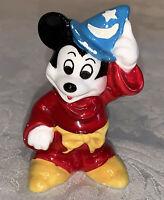 Vintage Disney Mickey Mouse Sorceror's Apprentice Ceramic Figurine - Free Ship