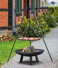 Korono Dreibein Schwenkgrill 1,8m, Rost Ø 80 cm, Feuerschale Ø 100cm, Handmade