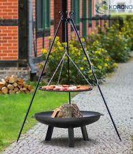 Korono Tripod Hanging Grill 1,8m Rust Ø 70 Cm Fire Bowl Ø 80cm Handmade