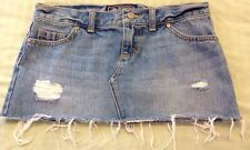 Victoria's Secret PINK Skirt Sz 0 Distressed Denim Blue Jean Mini Fashion VS