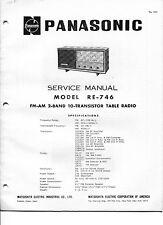 Vintage Panasonic SERVICE MANUAL- Radio Model RE-746 AM-FM 2-Band-10 Transistor