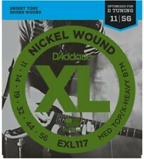 D'Addario EXL117 Nickel Wound Medium Top/Extra-Heavy Bottom 11-56 Guitar Strings