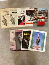 Collection of 9 LODGE Plugs Vintage Car Magazine Adverts Pre 1948