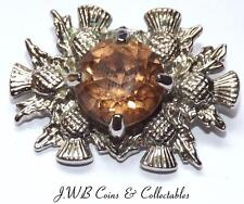 Scottish Thistle & Glass Stone Ladies Brooch