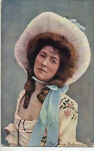 70149 Original 1904 Chromolitho PC British Theatre Actress Miss Jessie Bateman