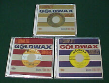 Lot of 3 Complete Goldwax Singles Volumes 1-3 (1962-1970) Soul Music 2-CDs Sets