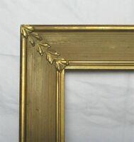 "ANTIQUE FITS 9"" X 11"" GOLD GILT COUNTRY PRIMITIVE WOOD FRAME FINE ART VICTORIAN"