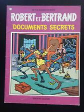 Robert et Bertrand Vandersteen Documents secrets N° 6 EO BE+ à TBE