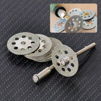 10pc 22mm Diamond Cut Off Wheel Disc + Mandrel Grinding Tool Rotary