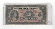 1935 Sm Seal Bank Of Canada BC-9b English , $20 Osb/Tow SN# A146145
