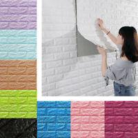 Convenient 3D PE Foam DIY Brick Stone Embossed Wall Stickers Wall Decor 70*77cm