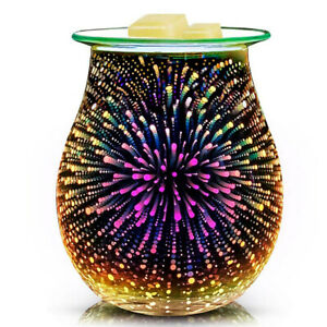 Aroma Electric Wax Melt Burner 3D Lamp Night Light Tart Wax Warmer UK ship