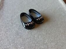 """American Girl black patent holiday dress shoes NEW for 18"""" doll pink gems"""