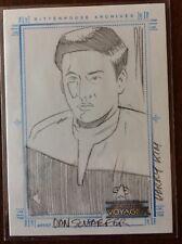 Star Trek Voyager Harry Kim SketchaFex Card Dan Schaefer