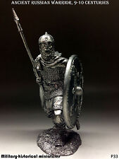 Ancient  Russian warrior, Tin toy soldier 54 mm, figurine, metal sculpture