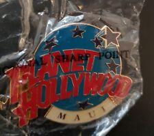 Planet Hollywood Pin / Badge Maui Classic Light Blue Globe Logo