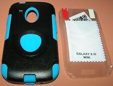 Trident Aegis Hybrid Case Galaxy S III MINI, Black/Blue, w PET screen protector